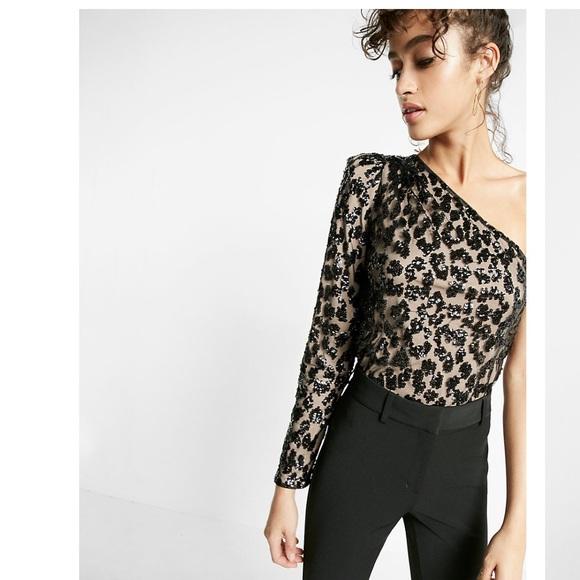 d68918278793c Express Tops - EXPRESS one shoulder sequin party top! 🎉